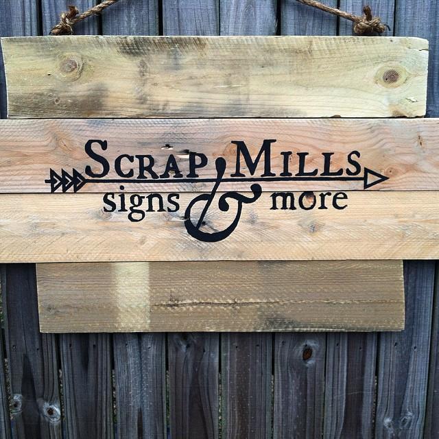 Scrap Mills sign