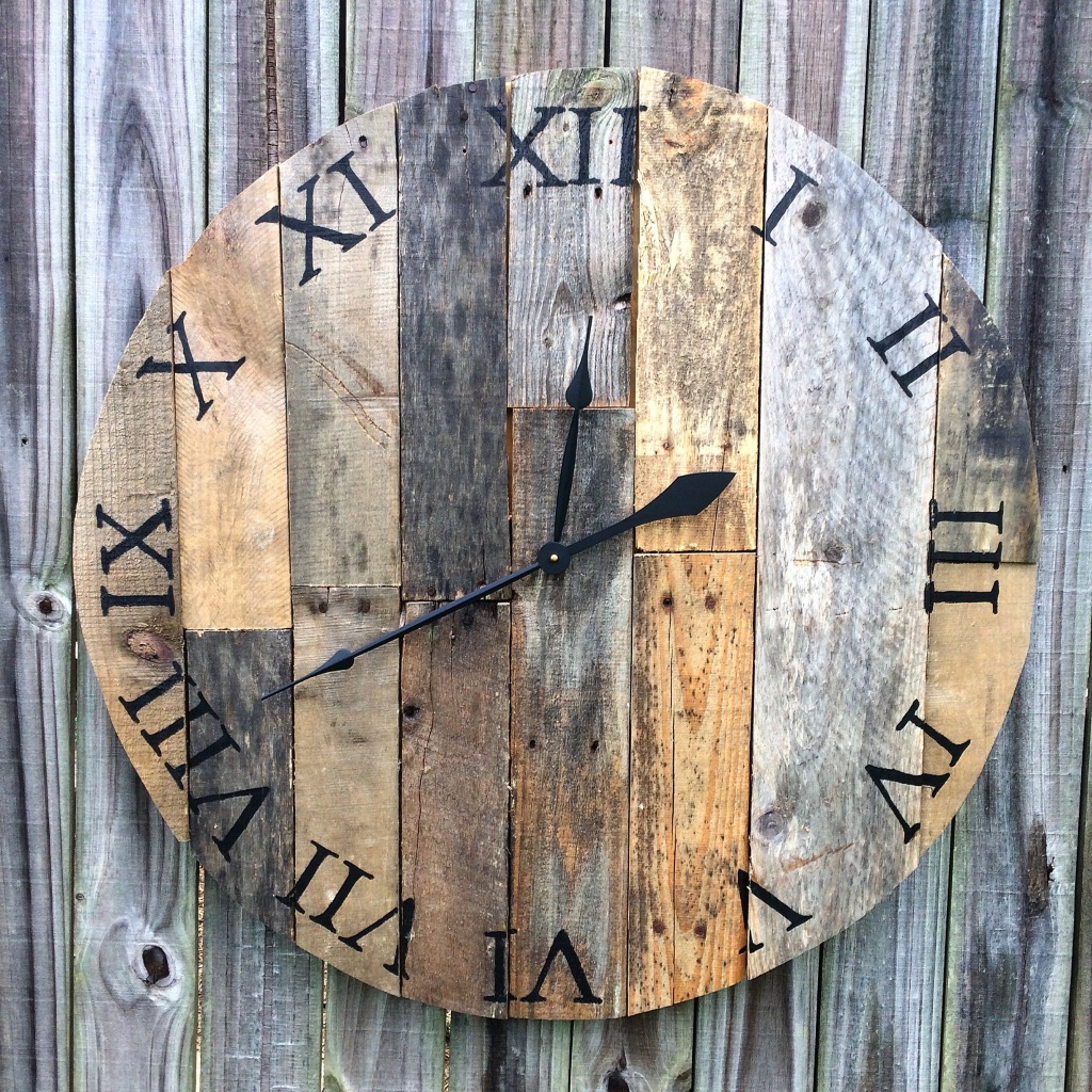 Scrap Wood Clock Vertical