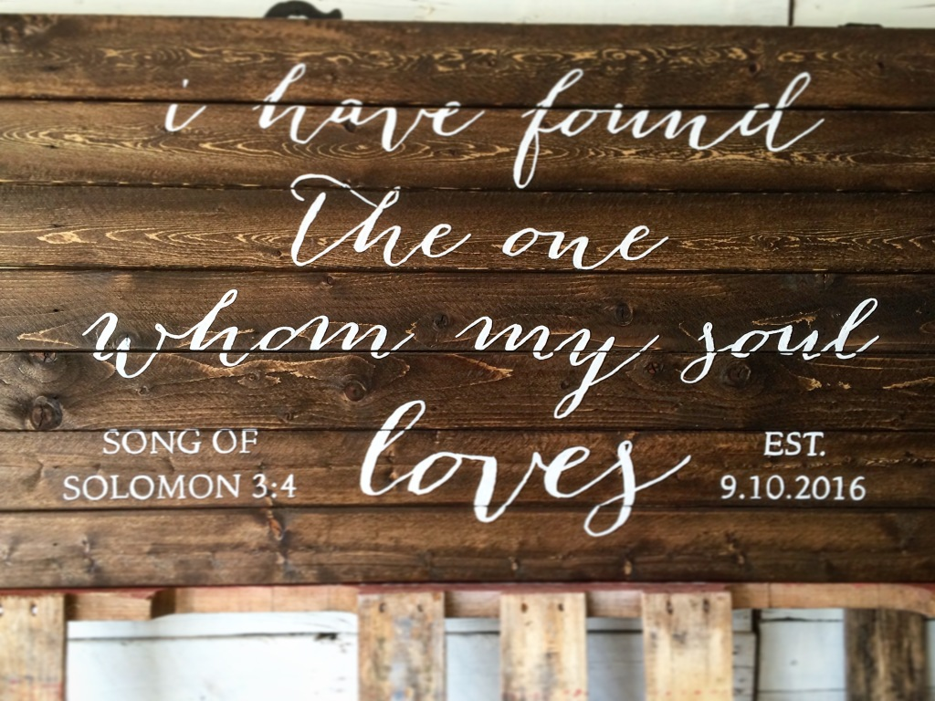 SoS Wedding Sign