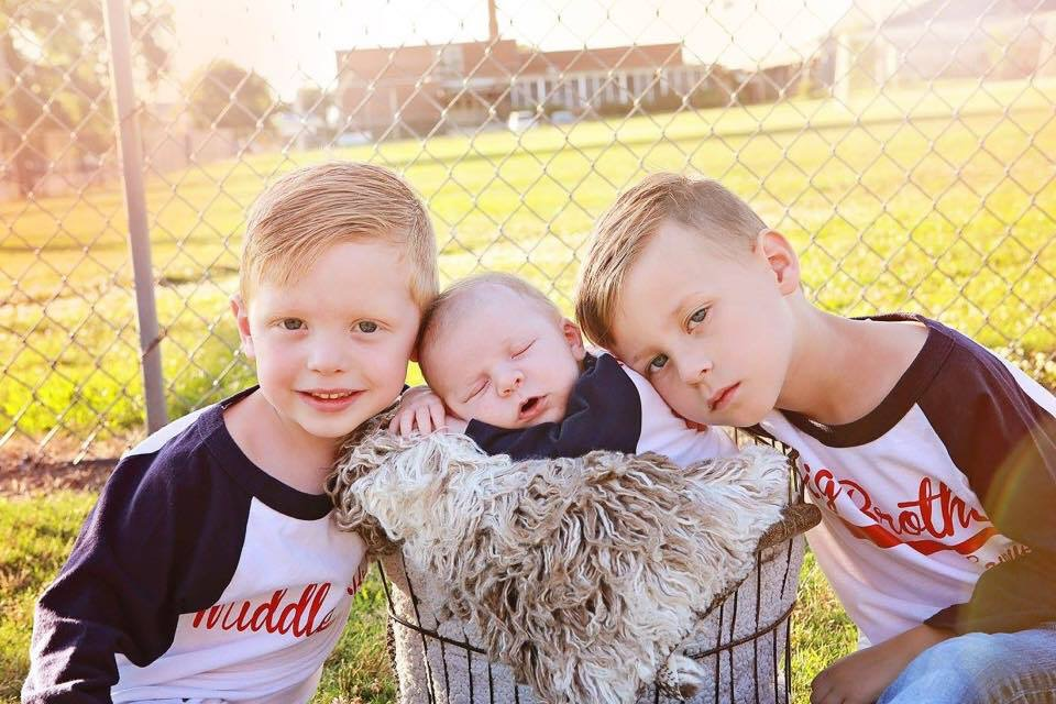Lincoln (almost four), Noah (four months), Sawyer (five)